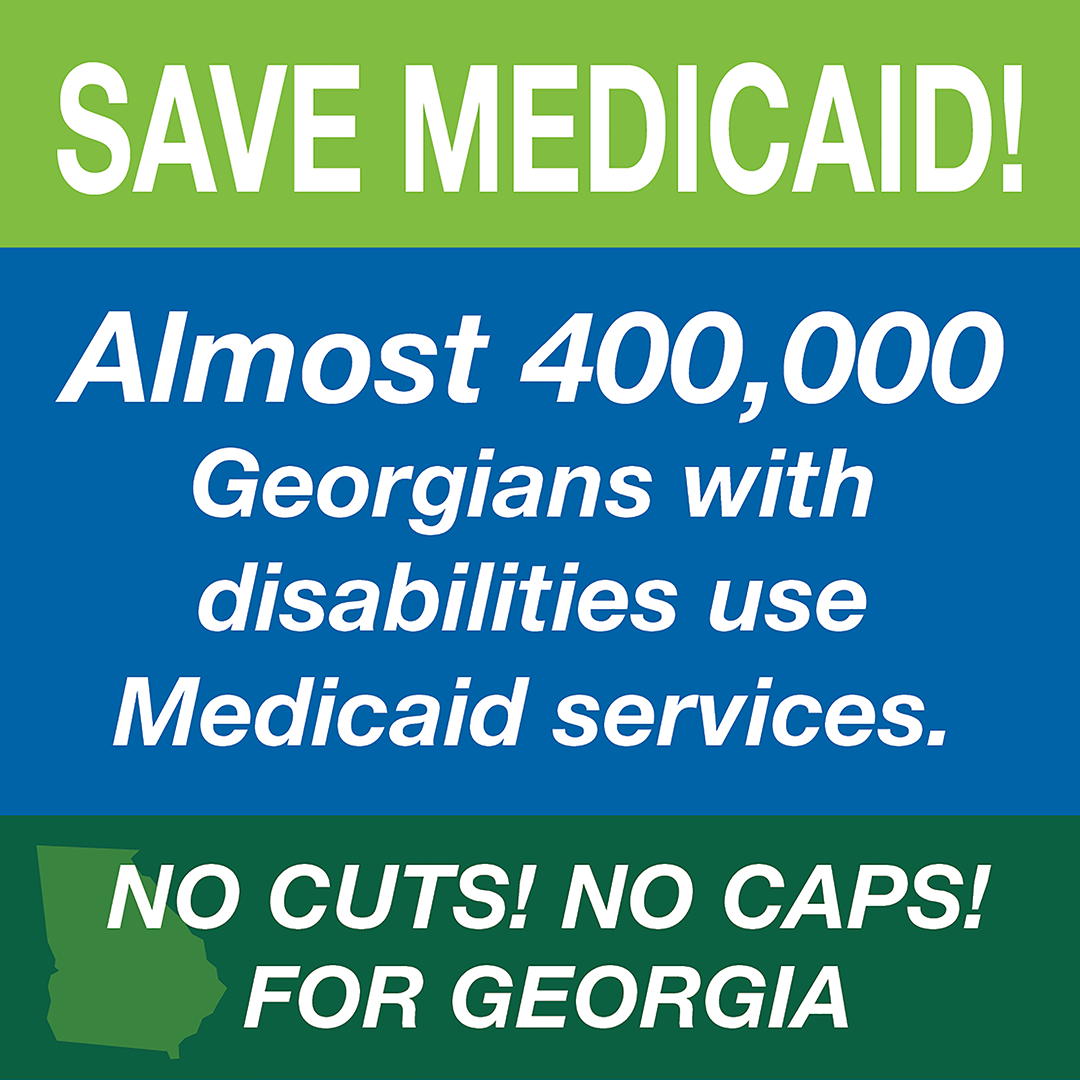 Almost 400,000 Georgians With Disabilities Use Medicaid Services Download  Graphic: Facebook, Twitter, Instagram