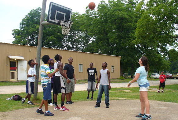 basketball at peacebuilders camp at koinonia farm