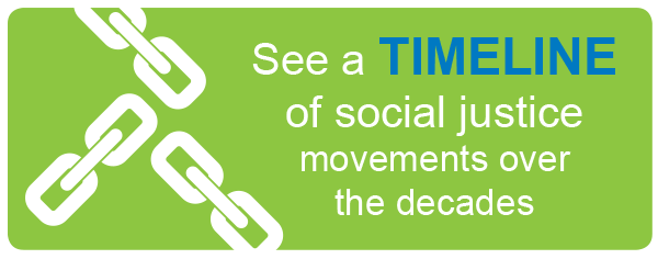 See a timeline of social justice movements over the decades