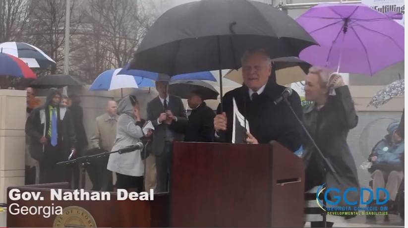 Governor Nathan Deal Speaks at the 2015 Disability Day