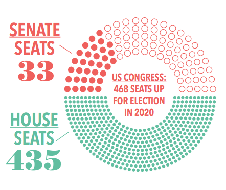 US Congress: 468 seats up for election in 2020