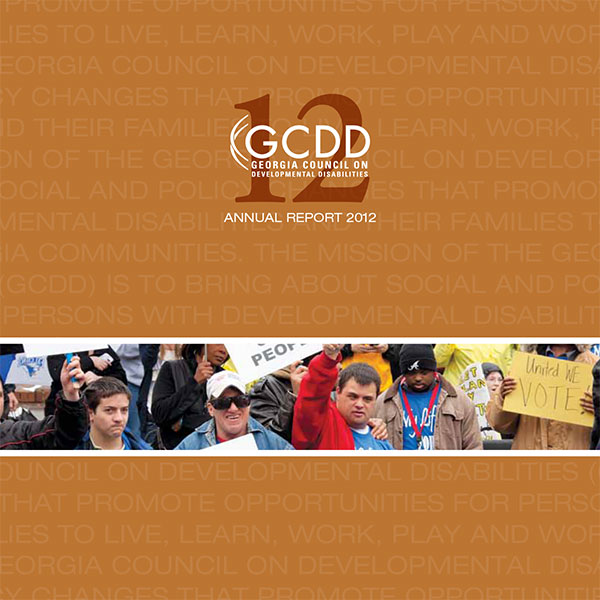 GCDD Annual Report 2012 cover