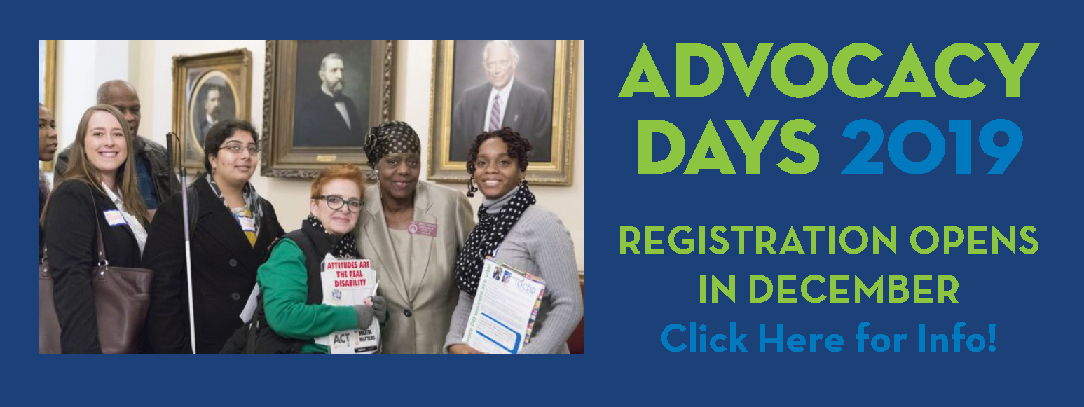 2019 Advocacy Days - Registration Opens in December
