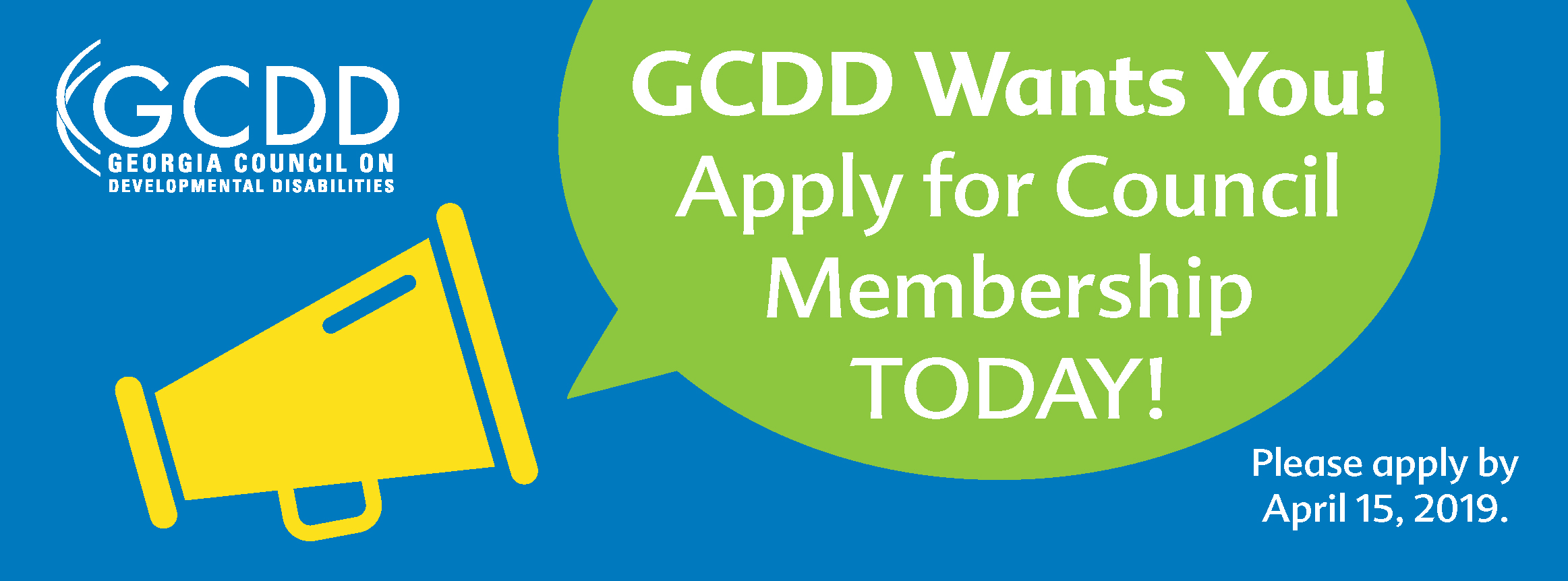 GCDD Wants You! Apply for Council Membership TODAY