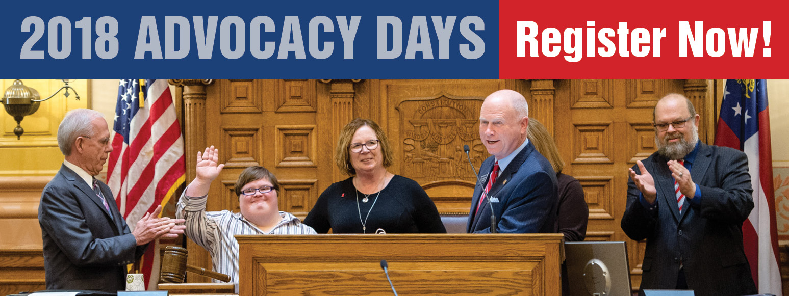 2018 GCDD AdvocacyDays - Register Now!