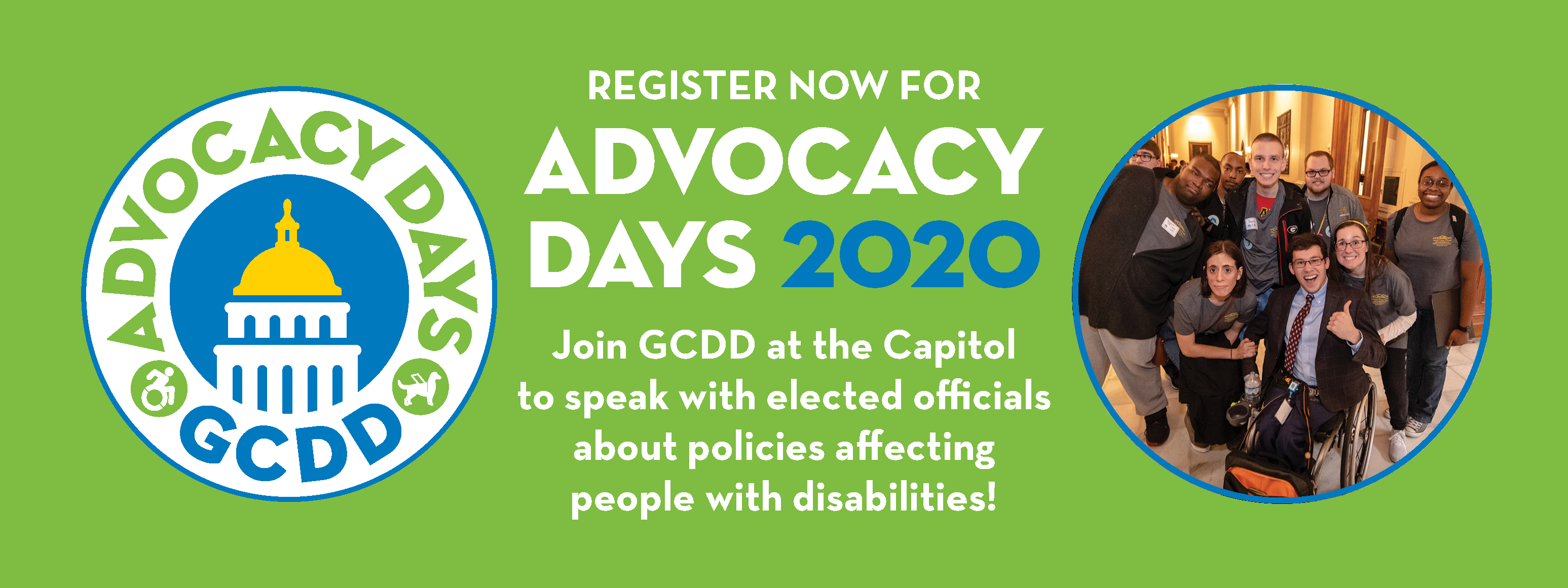Register Now for GCDD Advocacy Days 2020!