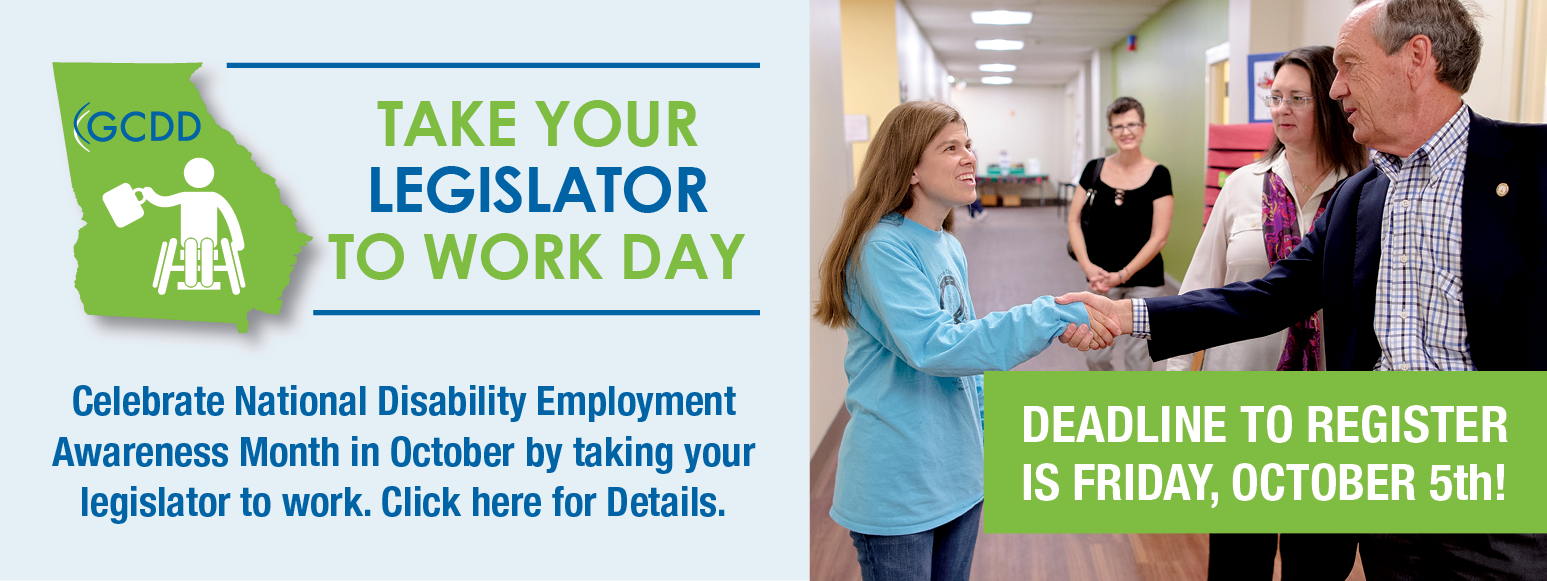 Register for the 2018 Take Your Legislator to Work Day!