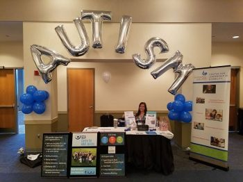 Information table at the Autism Conference & Expo