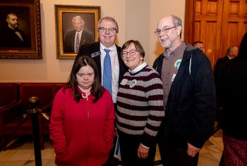 Sen Steve Henson with Advocates