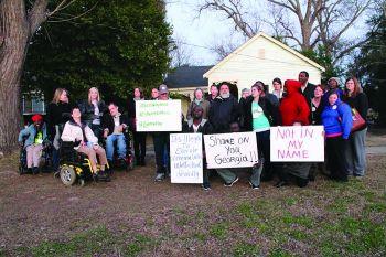 Warren Hill Protest