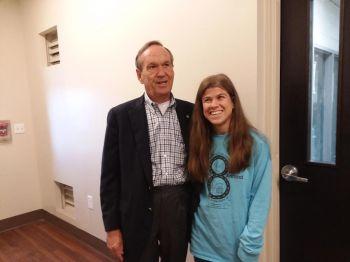 Bayley Bristow visited by Sen Fran Millar