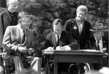 ADA30 - President H.W. Bush signs ADA