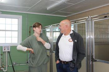 Elizabeth Terzich visited by Sen Mike Dugan