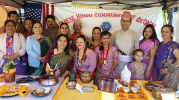 Bhutanese and Nepalese booth