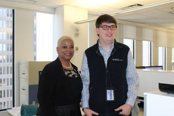 Matthew Roush visited by Rep Sheila Jones