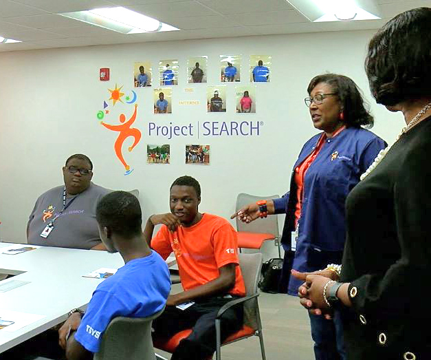 GA Rep. Carolyn Hugley visits TSYS' Project Search program