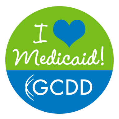 I Love Medicaid button