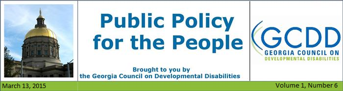 Public Policy for the People NL: Vol 1, Issue 6, March 13, 2015