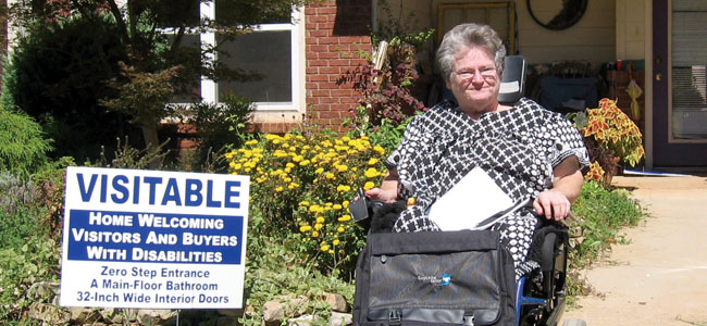 Eleanor Smith outside of an accessible home