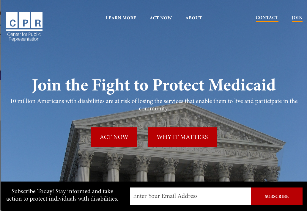 CPR Medicaid website