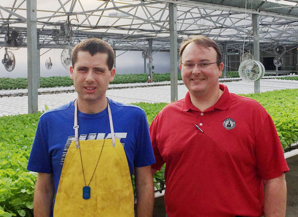 Chad Roberts was visited by Rep. Scot Turner at Sweetwater Growers in Canton for TYLTWD
