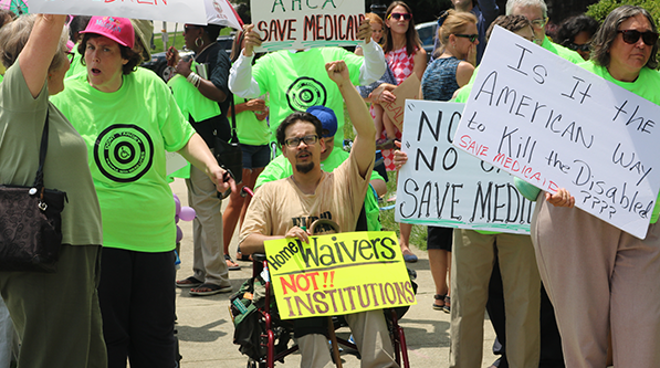 GCDD Rally to Save Medicaid